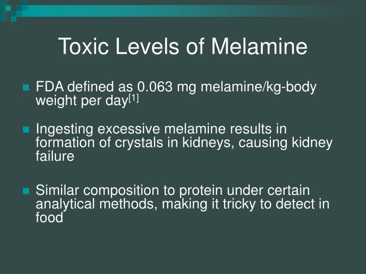 Toxic Levels of Melamine