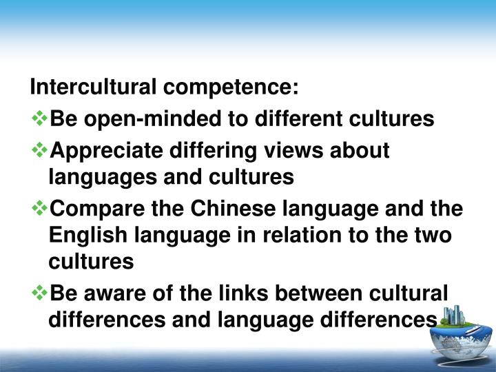 Intercultural competence: