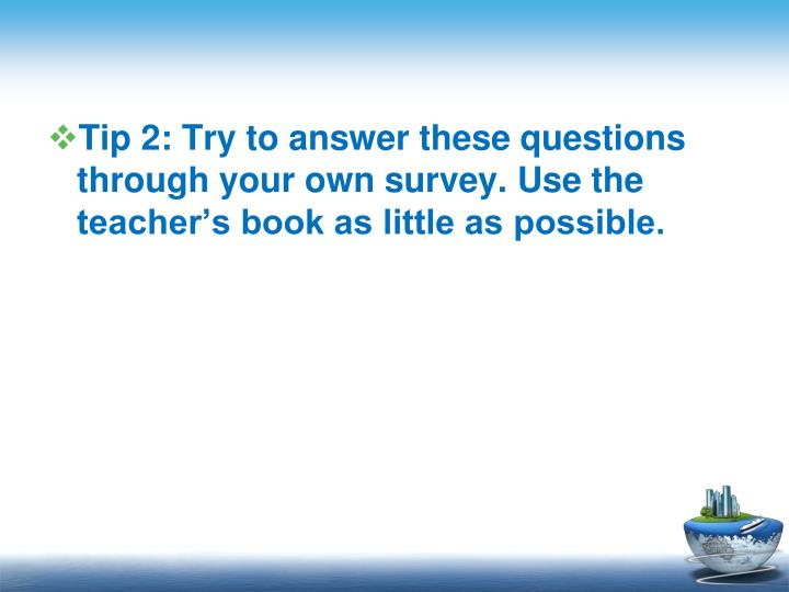 Tip 2: Try