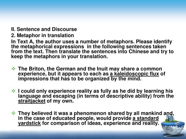 II. Sentence and