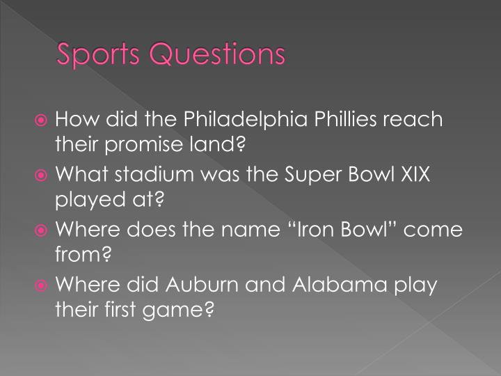 Sports Questions