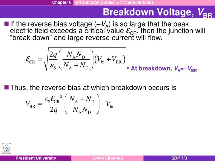Breakdown voltage v br