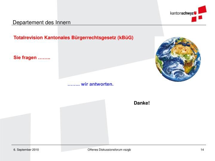 Totalrevision Kantonales Bürgerrechtsgesetz (kBüG)