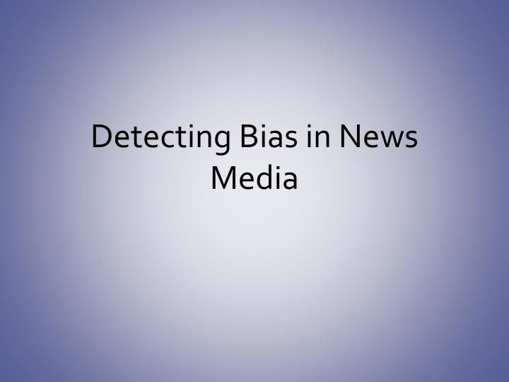 bias in news media Since citizens cannot cast informed votes or make knowledgeable decisions on matters of public policy if the information on which they depend is distorted, it is.