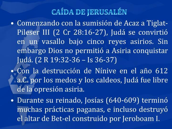 CADA DE JERUSALN