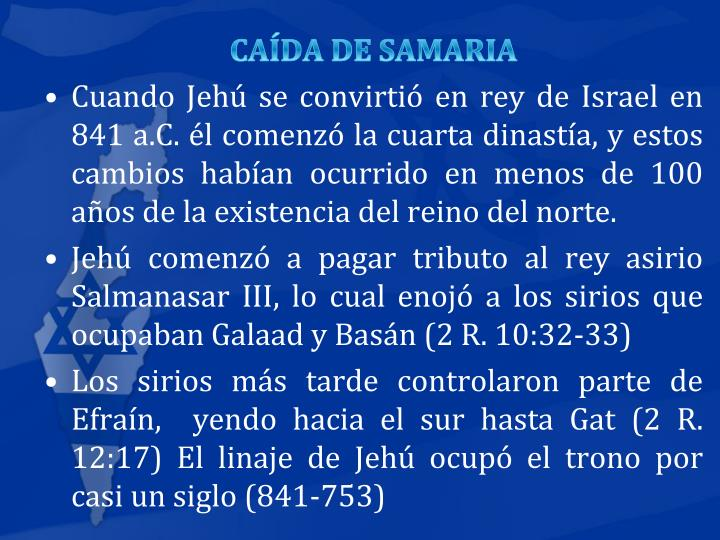 CAÍDA DE SAMARIA