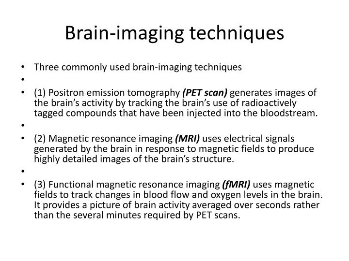 Brain-imaging techniques