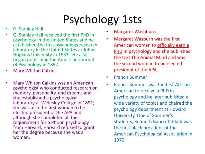 Psychology 1sts
