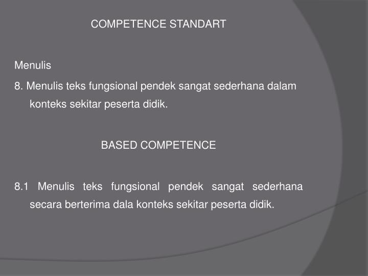 COMPETENCE STANDART