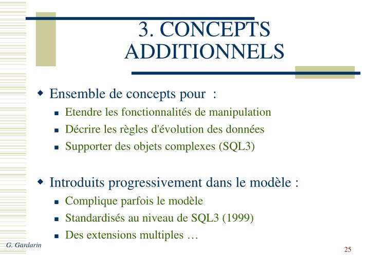 3. CONCEPTS ADDITIONNELS