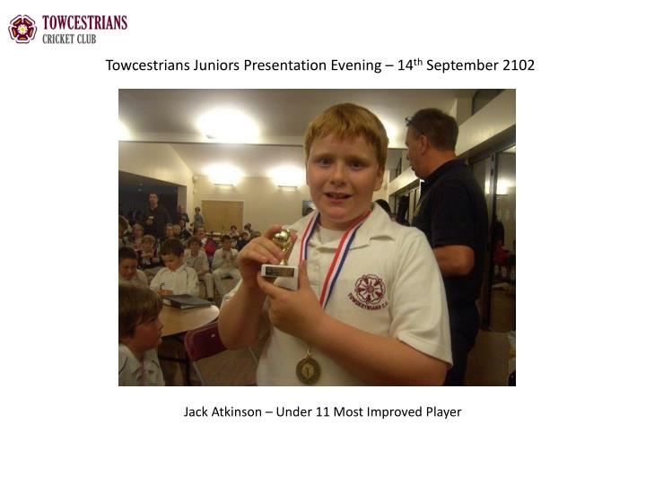 Towcestrians Juniors Presentation Evening – 14