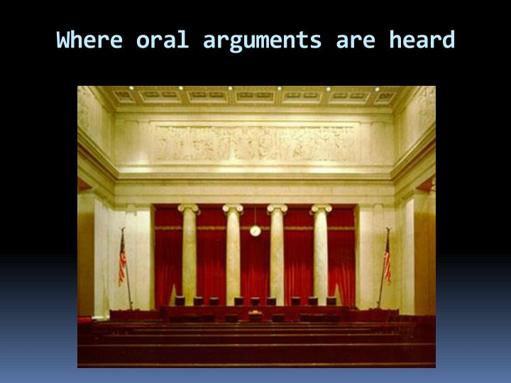 Where oral arguments are heard