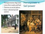 horsepower v sail power