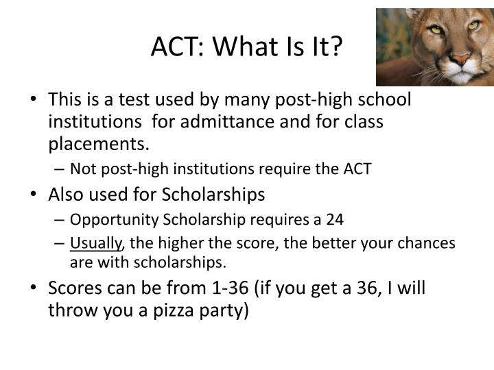 ACT: What Is It?