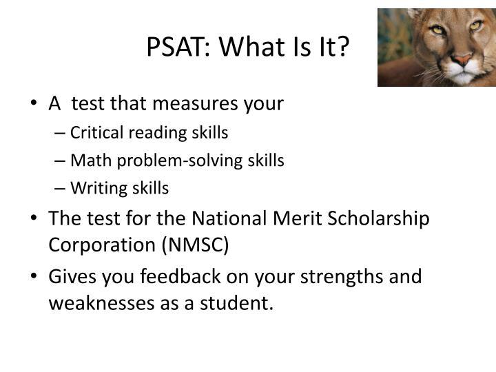 PSAT: What Is It?