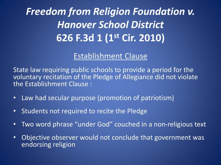 Freedom from Religion Foundation v. Hanover School District