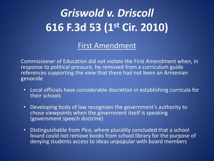 Griswold v. Driscoll