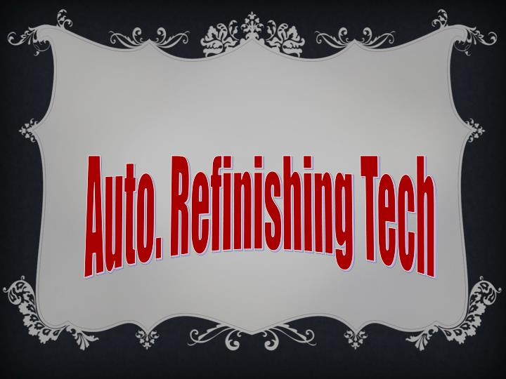 Auto. Refinishing Tech