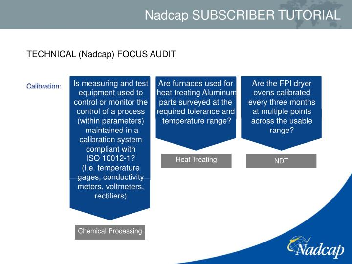 TECHNICAL (Nadcap) FOCUS AUDIT