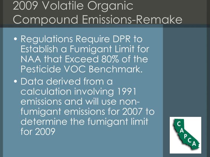 2009 Volatile Organic Compound Emissions-Remake