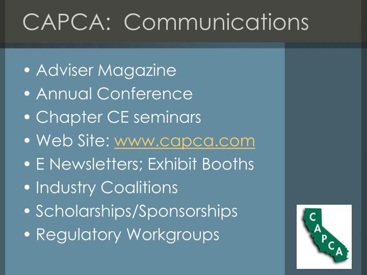 CAPCA:  Communications