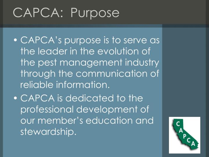 CAPCA:  Purpose