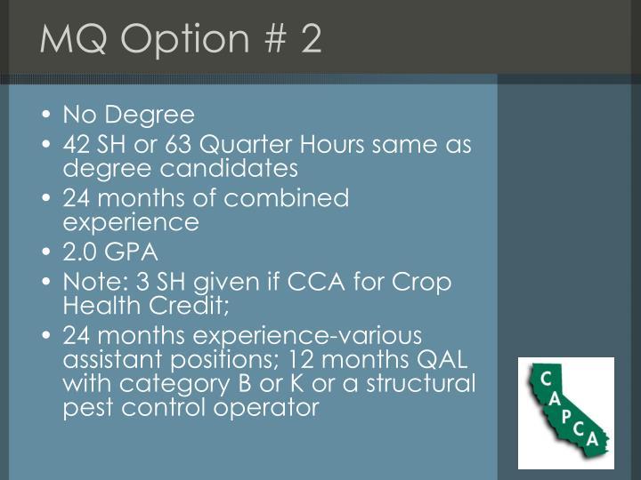 MQ Option # 2