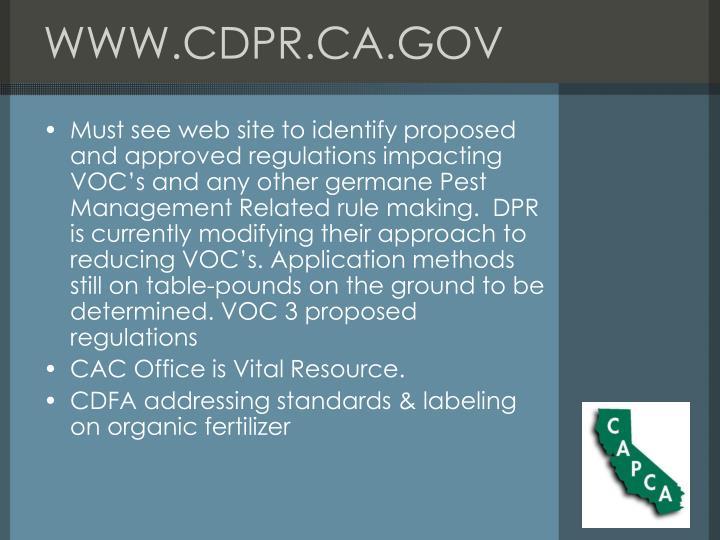 WWW.CDPR.CA.GOV