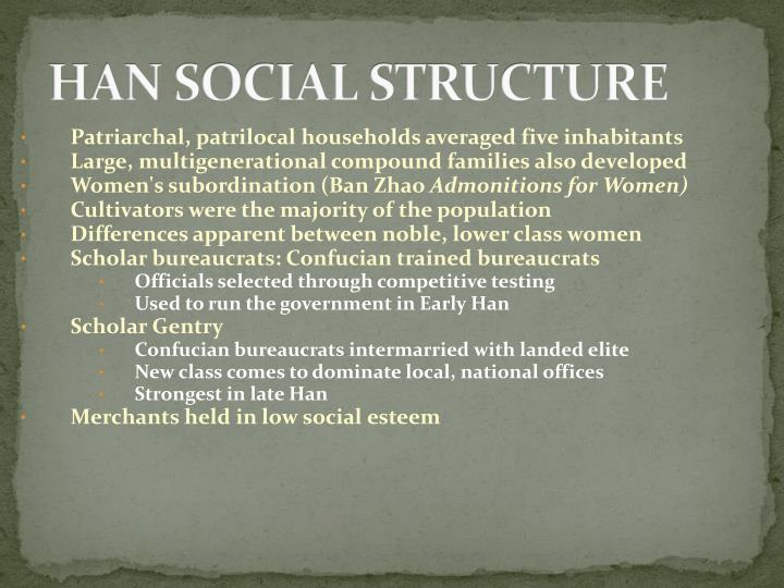 HAN SOCIAL STRUCTURE