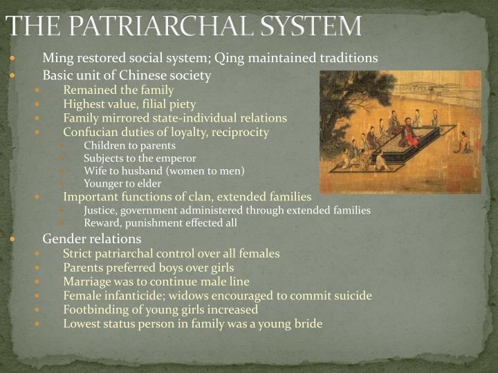 THE PATRIARCHAL SYSTEM
