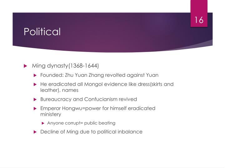 Ming dynasty(1368-1644)