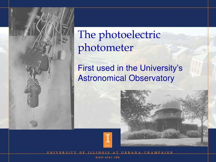 The photoelectric photometer