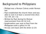 background to philippians