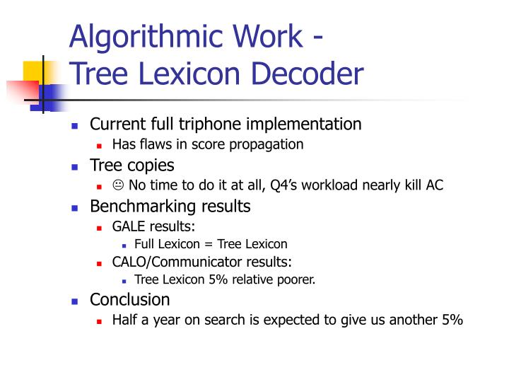 Algorithmic Work -