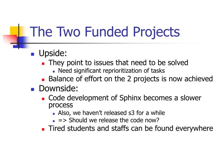 The Two Funded Projects