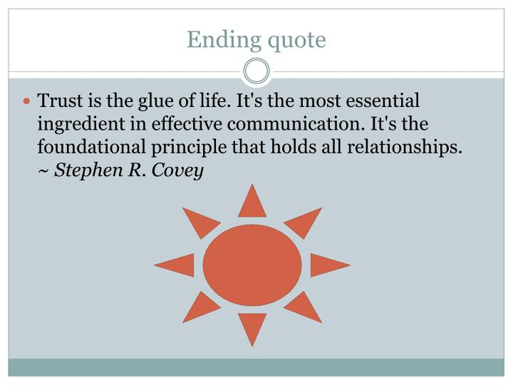 Ending quote