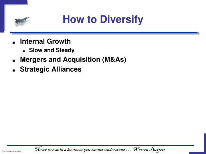 How to Diversify