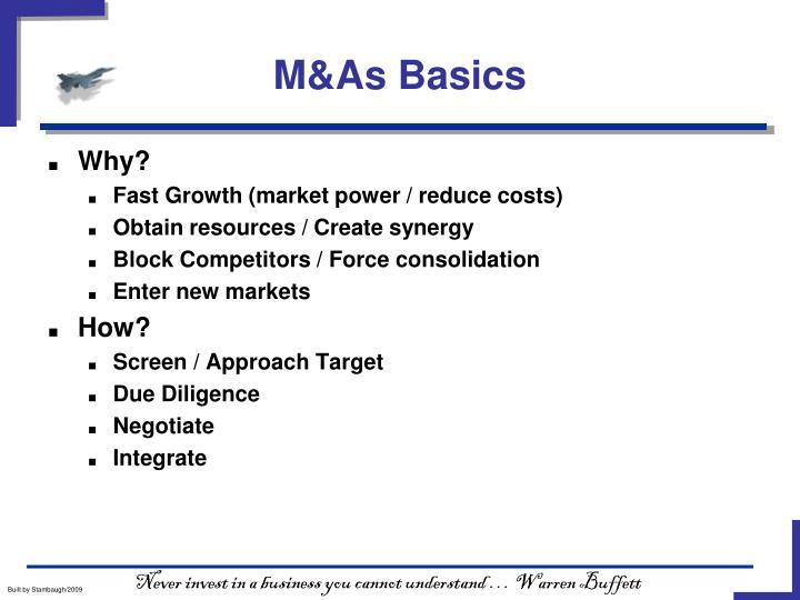 M&As Basics