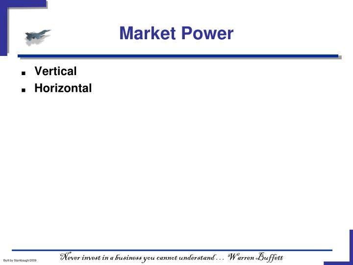 Market Power