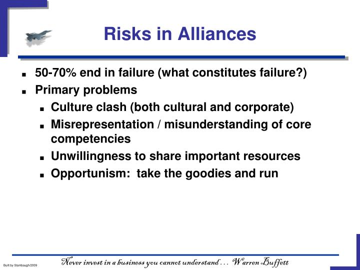 Risks in Alliances