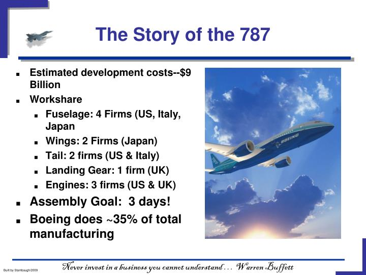 The Story of the 787