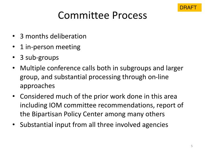 Committee Process