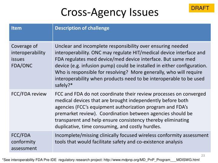 Cross-Agency Issues