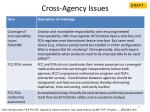 cross agency issues