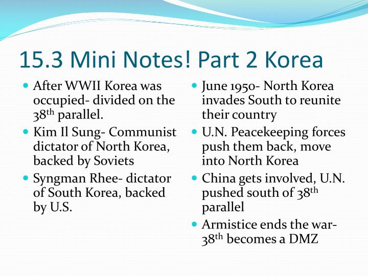 15.3 Mini Notes! Part 2 Korea
