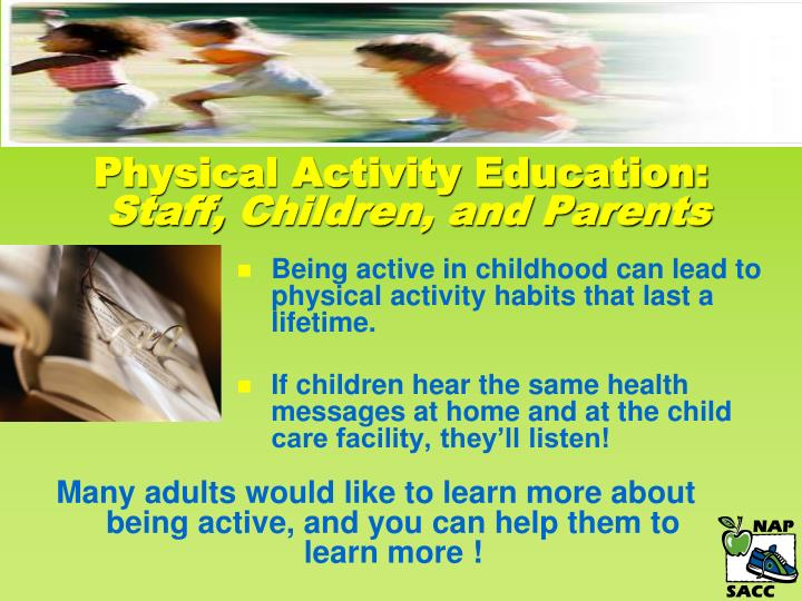 Physical Activity Education: