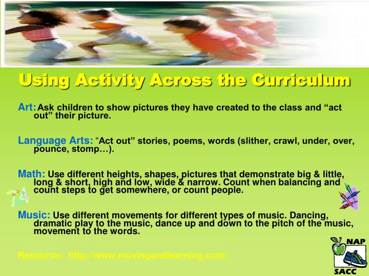 Using Activity Across the Curriculum