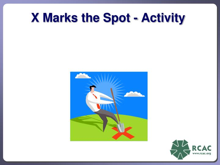 X Marks the Spot - Activity