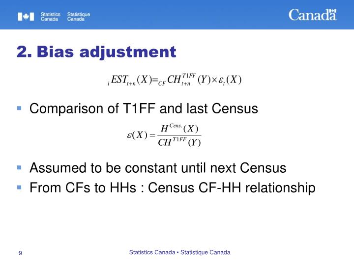 Comparison of T1FF and last Census