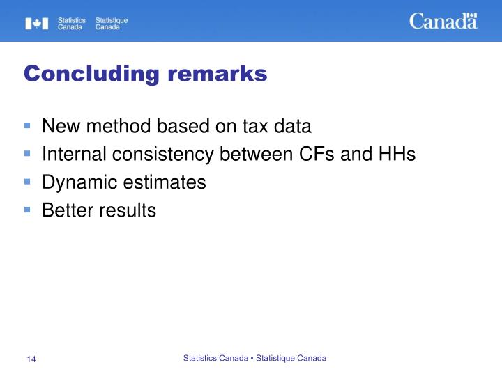 New method based on tax data
